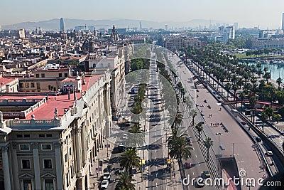 Passeig de Colom Barcelona Spain