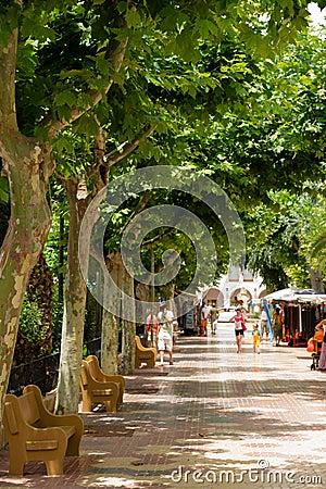 Passeig de Salamera in Santa Eularia des Riu Editorial Stock Image