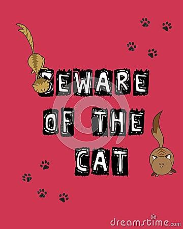 Passen Sie von der Katze auf