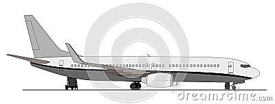 Passenger aircraft on the ramp