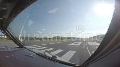 Passenger airliner taxing to a runway for takeoff stock video footage