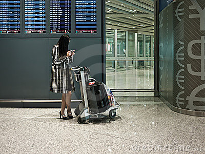 Passenger in airport Editorial Image
