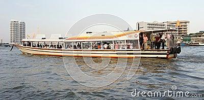 Passenger boat on Chao Phraya River, Bangkok Editorial Photo