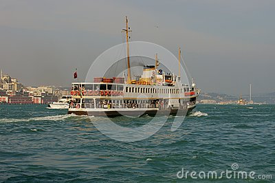 Passenger boat in Istanbul