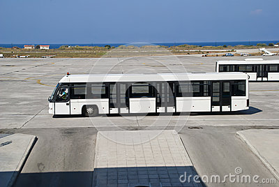 Passenger bus at the airport