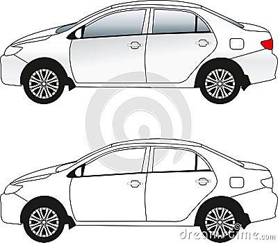 Passenger car illustration