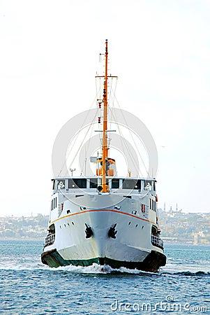 Passenger ferry on the Bosphorus, Istanbul