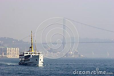 Passenger ferry in Bosporus Strait, Istanbul