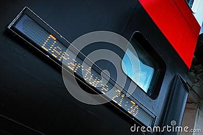 Passenger ferry digital information board