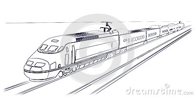 Passenger high-speed train