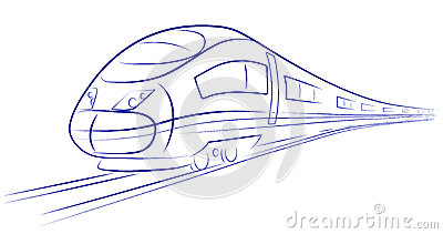 Passenger high-speed train