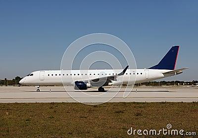 Passenger jet side view