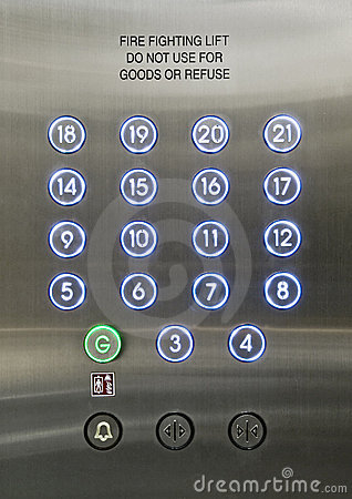 Free Passenger Lift Dial Royalty Free Stock Images - 13047379