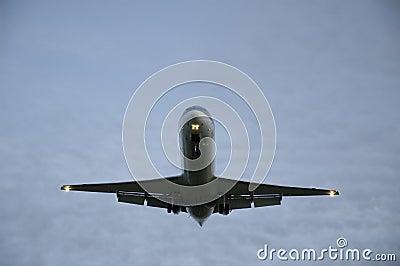 Passenger plane overhead.