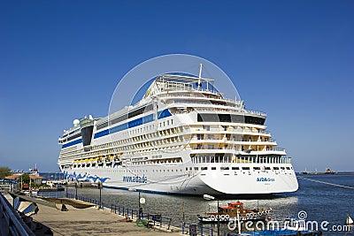Passenger ship AIDA,PORT SAID ,EGYPT Editorial Photography