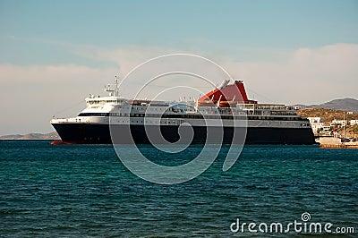 Passenger ship arrived in the port of destination