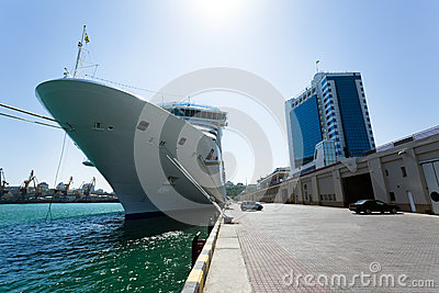 Passenger ship bow