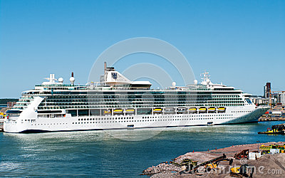 Passenger ship Brilliance of the Seas in port  of Helsinki, Fin Editorial Photography