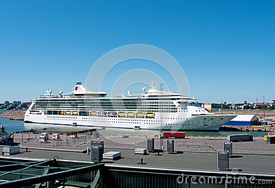 Passenger ship Brilliance of the Seas in port  of Helsinki, Fin Editorial Stock Image