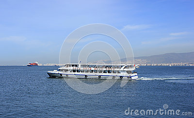 Passenger ship on Izmir bay