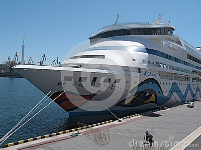 Passenger ship M/S AIDA AURA Editorial Stock Photo