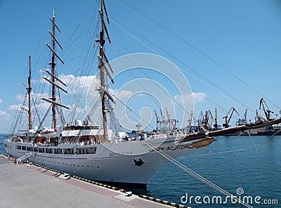 Passenger ship M/S Sea Cloud II Editorial Photography