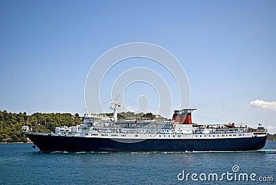 Passenger ship in Skiathos port