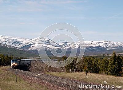 Passenger Train Coming Around the Bend