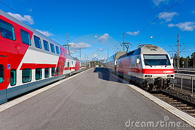 Passenger trains in Helsinki, Finland
