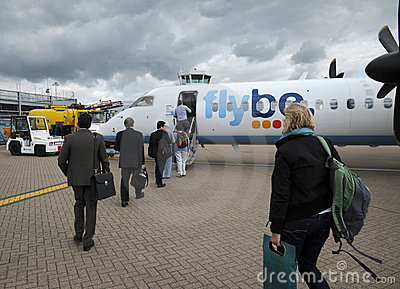 Passengers boarding Editorial Stock Image