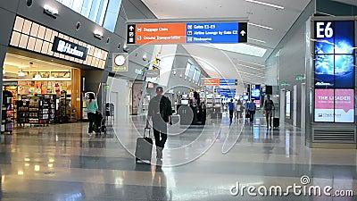 Passengers inside of McCarran international airport, Las Vegas, USA,    Diversity, nevada