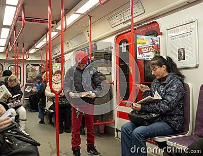 Prague Metro. Czech Republic Editorial Photography