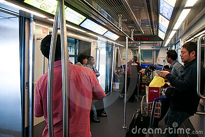Passengers in the Skytrain Editorial Image
