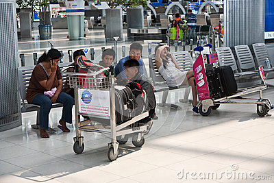 Passengers in Suvarnabhumi International Airport Editorial Photo