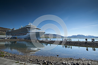 Cruise ship in Iceland Editorial Image