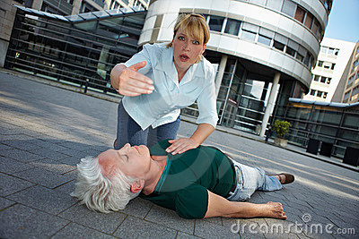 Passerby asking for First Aid help