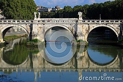 Passerelle à Rome