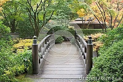 Passerelle en bois de pied dans le jardin japonais photos libres de droits image 21080638 - Passerelle en bois pour jardin ...
