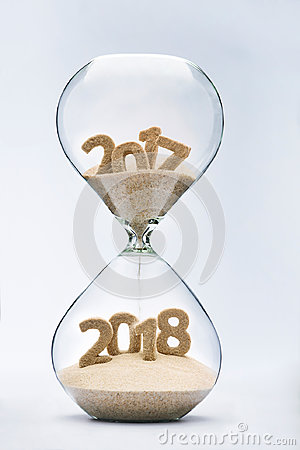 Free Passing Into New Year 2018 Stock Photography - 97217452