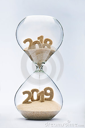 Free Passing Into New Year 2019 Royalty Free Stock Images - 97217449