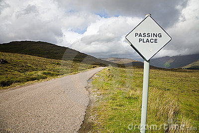 Passing place, Scotland
