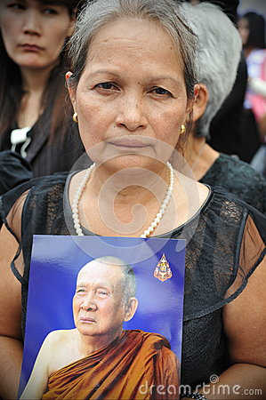 Passing of the Thai Sumpreme Patriarch Editorial Stock Photo