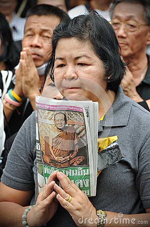 Passing of the Thai Sumpreme Patriarch Editorial Stock Image