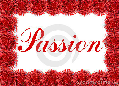 Passion card with red flowers