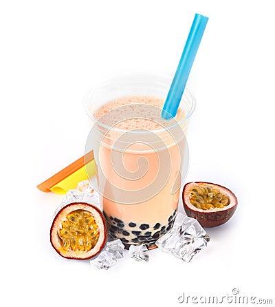 Passion Fruit Boba Bubble Tea