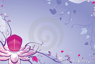 Passion fruit flower lilac background.