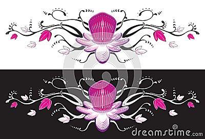 Passion fruit flower tattoo.