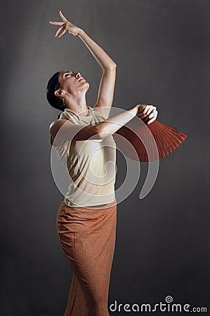Free Passionate Flamenco Dancer Stock Photography - 4900582