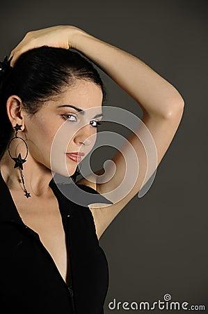 Passionate hispanic female