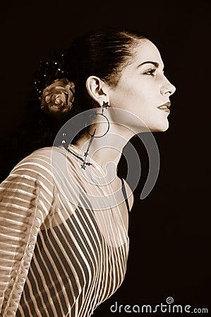 Free Passionate Hispanic Woman Royalty Free Stock Image - 5305556